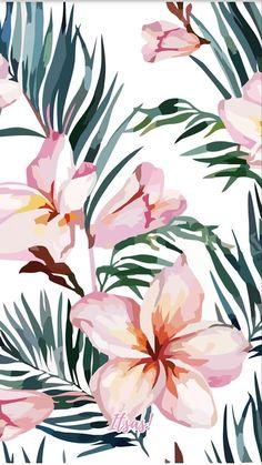 Pastel Wallpaper, Cute Wallpaper Backgrounds, Pretty Wallpapers, Flower Wallpaper, Screen Wallpaper, Iphone Wallpaper, Tropical Art, Illustrator, Flower Prints