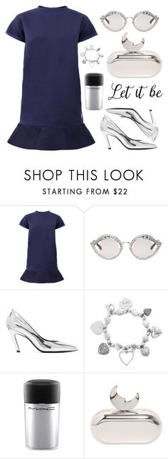 """Blue and Silver"" by piedraandjesus on Polyvore featuring moda, Moncler, Gucci, Balenciaga, ChloBo, MAC Cosmetics y Benedetta Bruzziches"