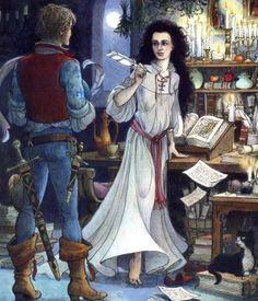 Trina Schart Hyman's Illustration for The Water of Life: A Tale from the Brothers Grimm