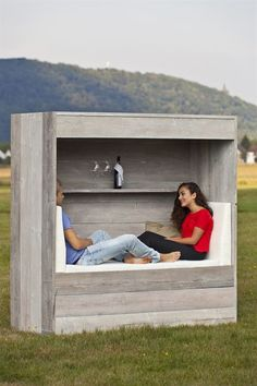 Wittekind: Strandkörbe mal anders – Come and grow Outdoor Projects, Garden Projects, Diy Garden, Outdoor Spaces, Outdoor Living, Rustic Wedding Venues, Outdoor Garden Furniture, Garden Structures, Garden Inspiration