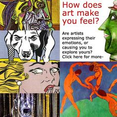 We take a look at how different artists' paintings to see how they portray and evoke emotion for the viewer. Site has art games too. High School Art, Middle School Art, Ap 12, Art Doodle, Art Critique, Art Handouts, Art History Lessons, Art Criticism, Art Worksheets