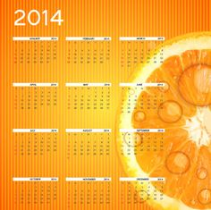 New Year 2014 Calendar Designs