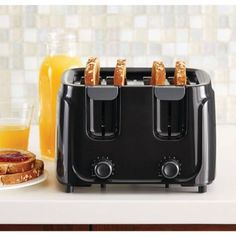 Mainstays 4-Slice Toaster, Black -- Awesome products selected by Anna Churchill