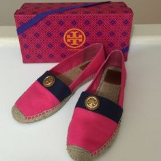 Tory Burch Beacher Espadrille in Pink, Size 10.5 Worn once. Comes with original box. Sold out in stores. Price is firm. No trades. Tory Burch Shoes Espadrilles