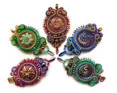 Soutache pendant very elegant eyecatching and by rododendron7, $70.00