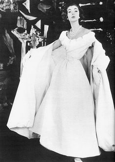 Christian Dior 1954. Inspiration stems from the past.