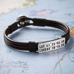 Sally Clay Personalised Location Bracelet