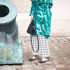 #DOTD @marimekkodesignhouse presentation #satumaaranen coat #marimekko pants 📷 @inmyballerines