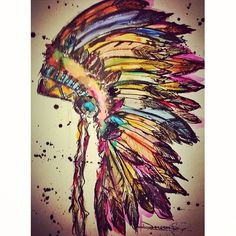 ideas for painting indian artworks native american art Tattoo Indien, Art Pour Salon, Tattoo Bunt, Native American Tattoos, Native American Drawing, Native American Headdress, Native American Paintings, American Indian Art, Native American Decor