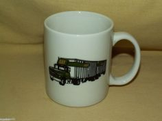 ABF FREIGHT TRUCKING FORD DOUBLES SEMI TRACTOR TRAILER HAULER TRUCK MUG CUP
