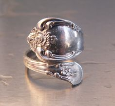 Vintage Ring Silver Oneida Spoon Ring Wm A by TheJewelryChain, $18.00