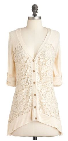 I have a similar cardigan to this - a little shorter with 3/4 sleeves - that I have been wearing a lot lately
