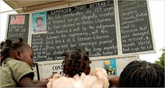 All the News That Fits: Liberia's Blackboard Headlines by Lydia Polgreen - New York Times. This article, from 2006, has stuck with me ever since I read it. Though dated, could be good supplemental reading for 1984, Fahrenheit 451, or another book about communication. Could even tie in with African literature segment (Things Fall Apart, etc.) to help connect it to more present-day events that involve something more hopeful than AIDS, genocide, civil war, and ebola.