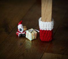 SALE Christmas socks chair socks Floor protector by HandfulCrafts Homemade Christmas, Christmas Home, Kane Chairs, Lazy Boy Chair, Cinema Chairs, Chair Socks, Metal Folding Chairs, Floor Protectors For Chairs, Table