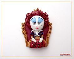 Red Queen Clay Charm by ~buzhandmade on deviantART