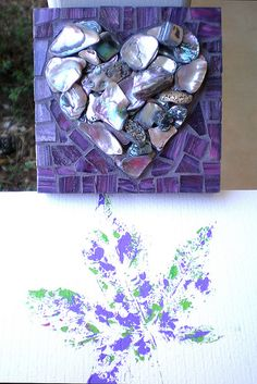 Mosaic heart~~~we have some beautiful shells like this from Maine. Now I know what I want to do with them