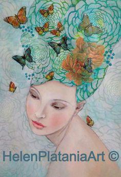Melbourne Artist, Helen Platania, providing Art & Craft Classes for women & Children, Art commissions, Original Art, Prints & Art Cards for Sale.