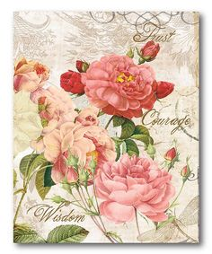 Shabby Chic Roses IV Canvas Wall Art by COURTSIDE MARKET on zulily