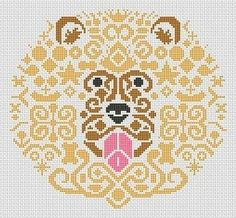 Tribal Lion Cross-Stitch Pattern