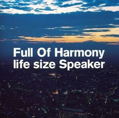 life size Speaker ~ F.O.H featuring Rymester