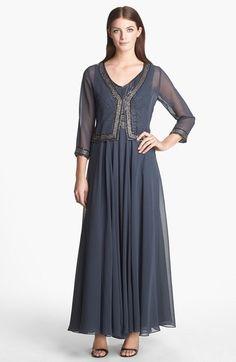 J Kara Embellished Chiffon Dress & Jacket available at #Nordstrom