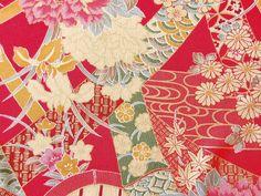 着物柄縮緬再現 8-A 35cm×100cm 商品詳細 古布、縮緬、古布再現縮緬、ミニかんざし類、販売、 はなまる