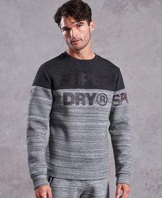 Superdry Herren Series Crew Sweatshirt Pullover Weiß