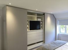 33 Ideas For Bedroom Closet Design Built In Wardrobe Sliding Doors Bedroom Built In Wardrobe, Bedroom Closet Design, Small Master Bedroom, Tv In Bedroom, Closet Bedroom, Home Decor Bedroom, Bedroom Storage, Tv In Wardrobe, Built In Wardrobe Ideas Sliding Doors