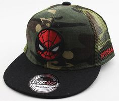 2016 New Kids Baseball Caps Fashion Superman Batman Children Snapback Caps  Gorras Planas Boys Hip Hop Hat Mesh Summer Hats 2318 41f9ae973141