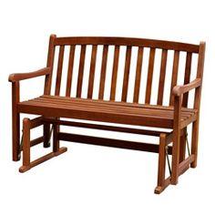 Acacia Hardwood Glider Bench
