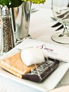 "DIY wedding favors on the cheap! ""S'more fun for later"" -- This is a great idea, especially for outdoor weddings!"