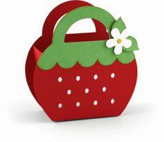 66f4ef7d001b4 Silhouette Design Store - View Design  76158  3d strawberry favor box  Strawberry Box,