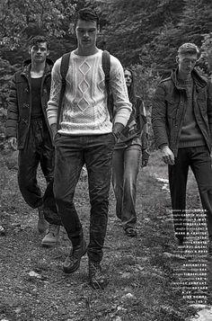 GQ Italia's Mountain Life with Filip Hrivnak, James Flury and Mason Frizelle
