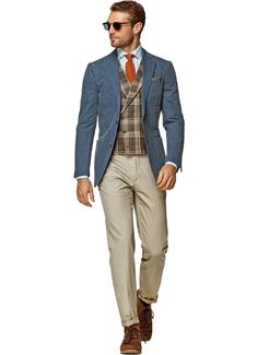 SuitSupply Two Button Copenhagen Blue Plain Jacket (Linen) Size: 38 Regular   eBay