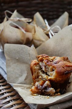 roasted fig, goats cheese + honey muffins