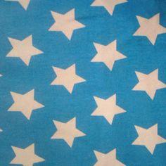 jersey sterren donker aqua (170 breed)