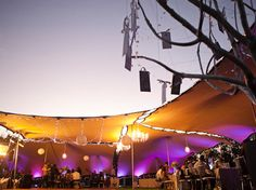 Linked-tents-chandeliers-fairy-lighting-paper-lanterns