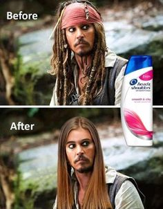 Johnny Depp Shampoo Shower Before and After Funny Images, lol, funnypics, humor. Super Funny Pictures, Funny Images, Cool Pictures, Funny Cute, The Funny, Memes Humor, Jokes, Funy Memes, Funny Food Memes