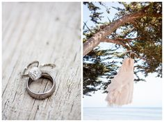 Rings and Ocean Cliff Bridal Gown - Santa Barbara Private Estate Beach Wedding  Boutique Destination Wedding Photography by Paul & Jewel - International Lifestyle Photographers
