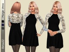 The Sims Resource: Margie dress by Birba32 • Sims 4 Downloads