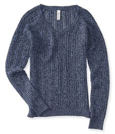 Open-Stitch V-Neck Sweater from Aeropostale
