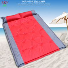 wilderness Double automatic inflatable mattress camping mat PVC outdoor Big thickened folding mat with pillow 3 colors 2016 NEW fast ship Find out more on AliExpress website by clicking the VISIT button