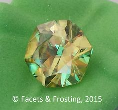 Sphene, 1.23 cts, 7.0x6.6mm hexagon (6-sided).  <AVAILABLE> on website