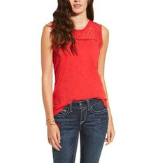 Ariat® Women's Mallow Red Tank Top [10019651]