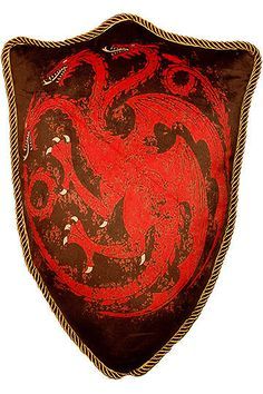 Game of Thrones - Plüschkissen Wappen Haus Targaryen - 56 cm