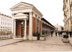 The market arcade, central Ljublana. I love the witty use of classical elements