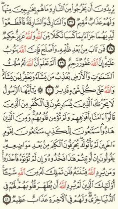 سورة المائدة الجزء السادس الصفحة(114)