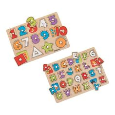 Educational 2 Peg Wooden Puzzle Set - Wooden Puzzles - Toys - Toys & Play Sets