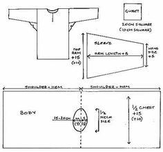 *01* Description:  Basic late medieval shirt using this pattern for my husband to use as an undershirt.  Pattern from the Principality of Insulae Draconis.