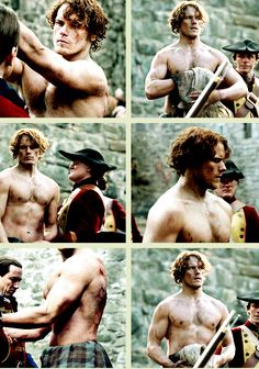 [GIFSET] Jamie prepares for the flogging//1x06 The Garrison Commander